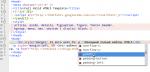 Komodo: колтипсы вставки другого языка